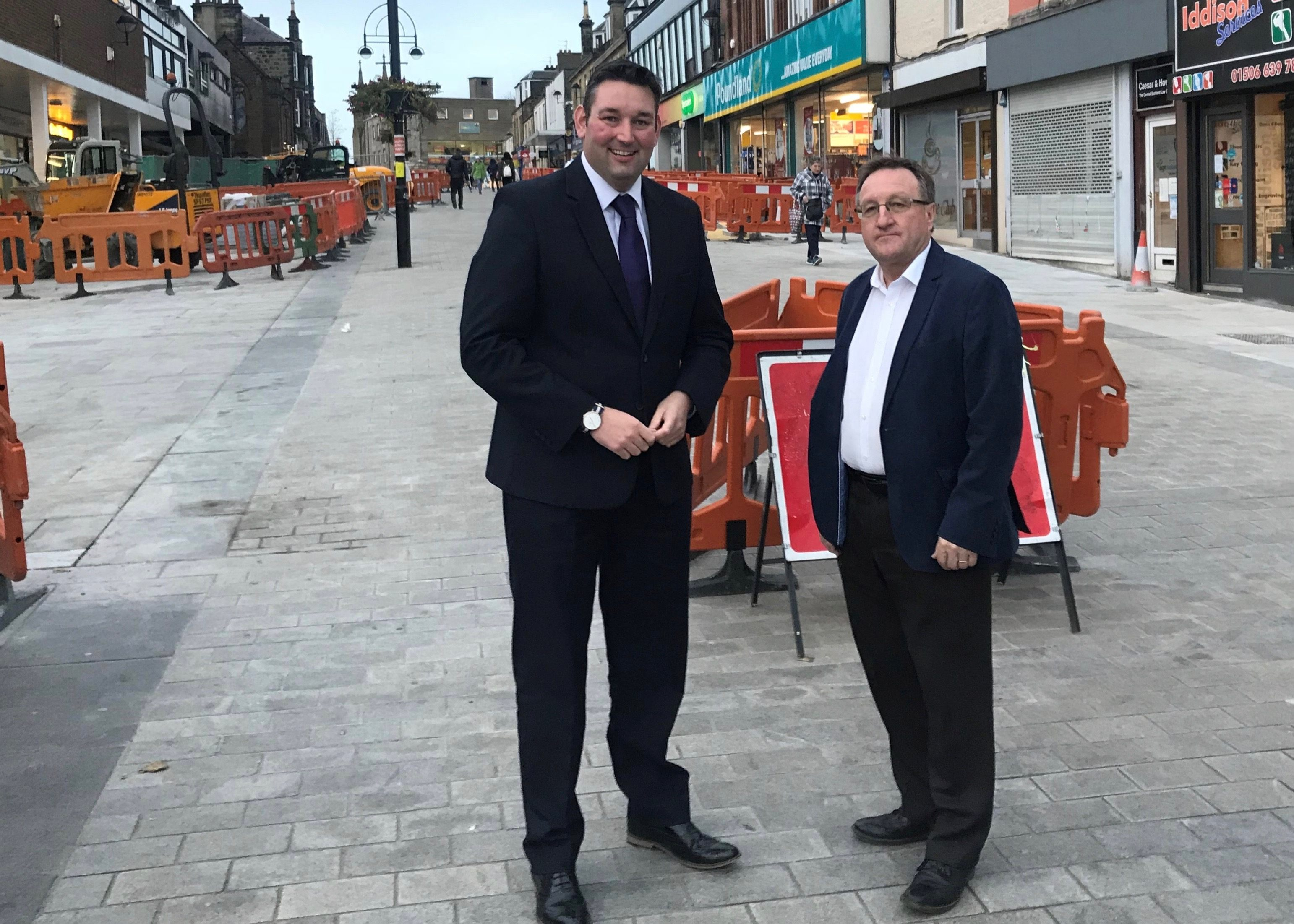 Briggs and Kennedy Inspect Work Carried Out in Bathgate ...